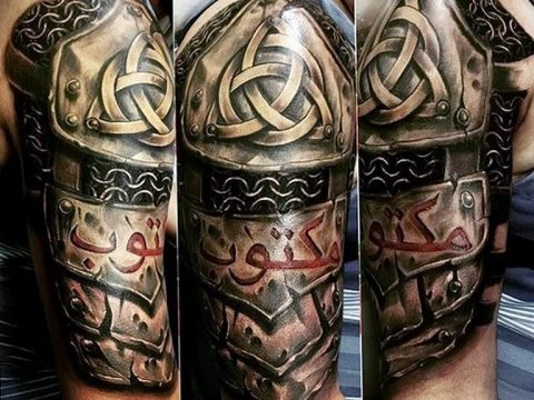 Фото кельтский орнамент тату 10.07.2019 №011 - celtic tattoo ornament - tatufoto.com