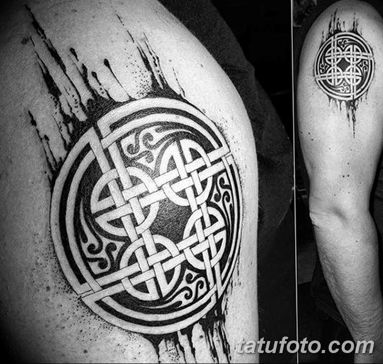 Фото кельтский орнамент тату 10.07.2019 №015 - celtic tattoo ornament - tatufoto.com