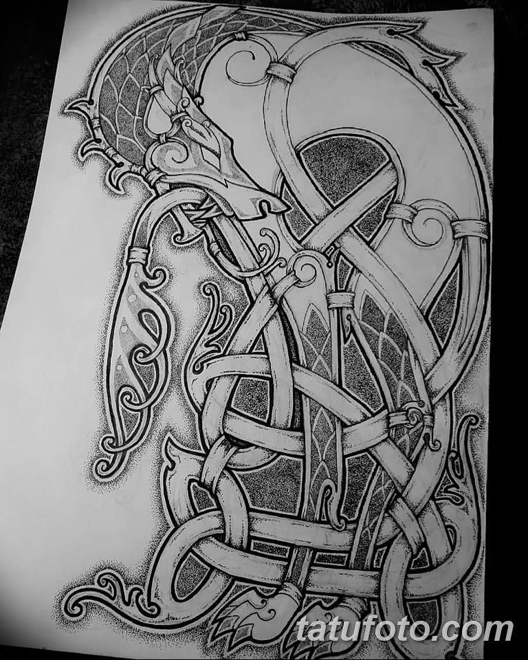 Фото кельтский орнамент тату 10.07.2019 №021 - celtic tattoo ornament - tatufoto.com