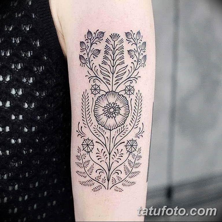 Фото красивый орнамент тату 10.07.2019 №003 - beautiful ornament tattoo - tatufoto.com