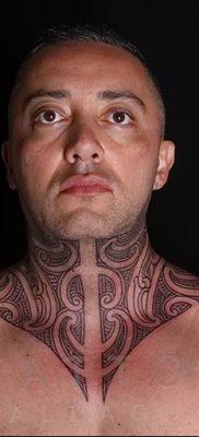 Фото орнамент на шее тату 10.07.2019 №006 – neck tattoo – tatufoto.com
