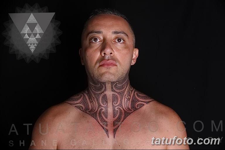Фото орнамент на шее тату 10.07.2019 №006 - neck tattoo - tatufoto.com