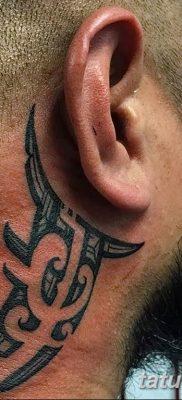 Фото орнамент на шее тату 10.07.2019 №009 – neck tattoo – tatufoto.com