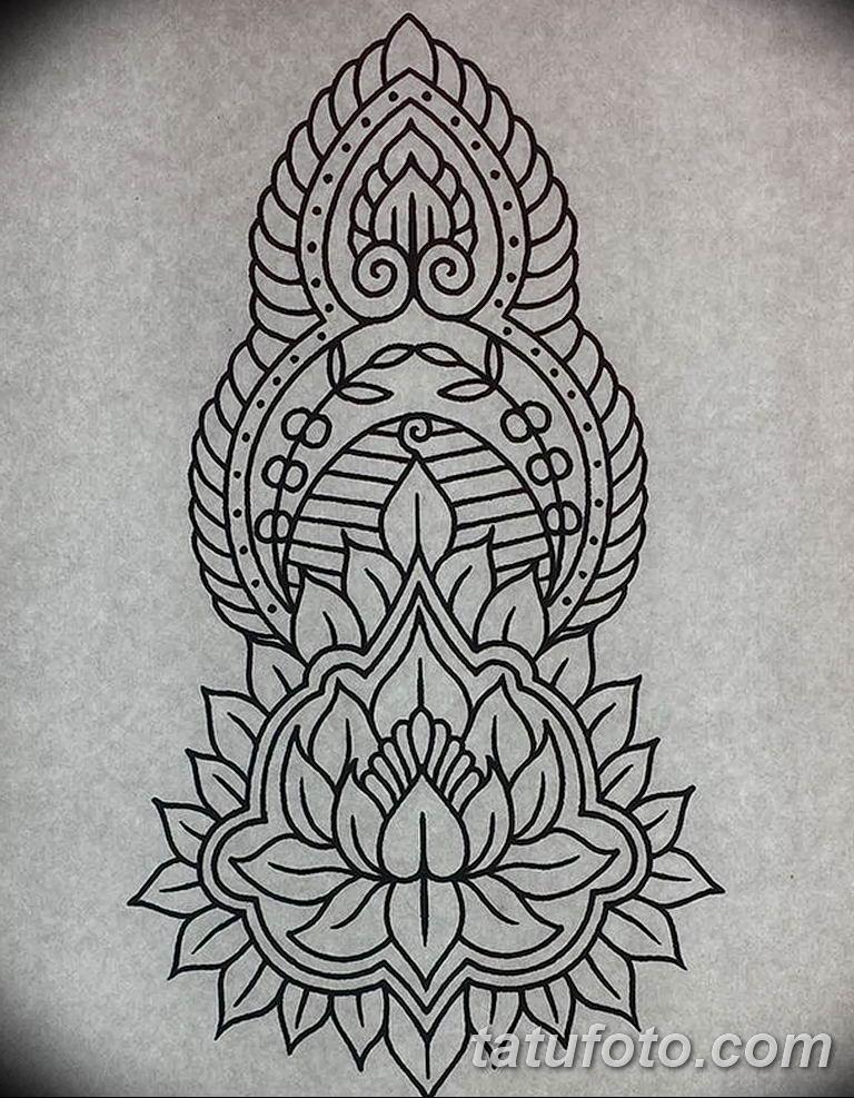 Фото орнамент тату эскизы 10.07.2019 №001 - ornament tattoo sketches - tatufoto.com