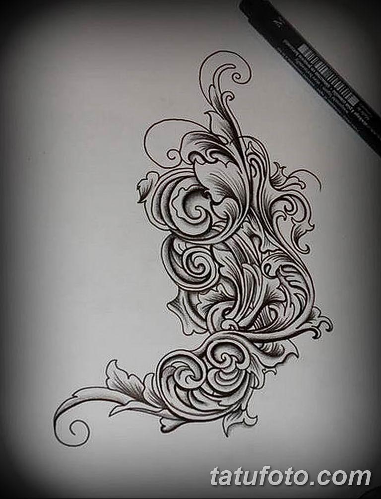 Фото орнамент тату эскизы 10.07.2019 №002 - ornament tattoo sketches - tatufoto.com