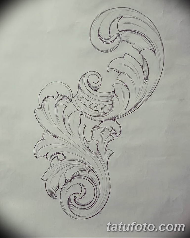 Фото орнамент тату эскизы 10.07.2019 №003 - ornament tattoo sketches - tatufoto.com