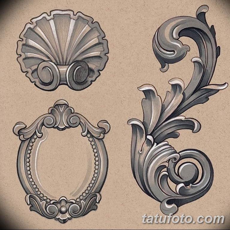 Фото орнамент тату эскизы 10.07.2019 №005 - ornament tattoo sketches - tatufoto.com