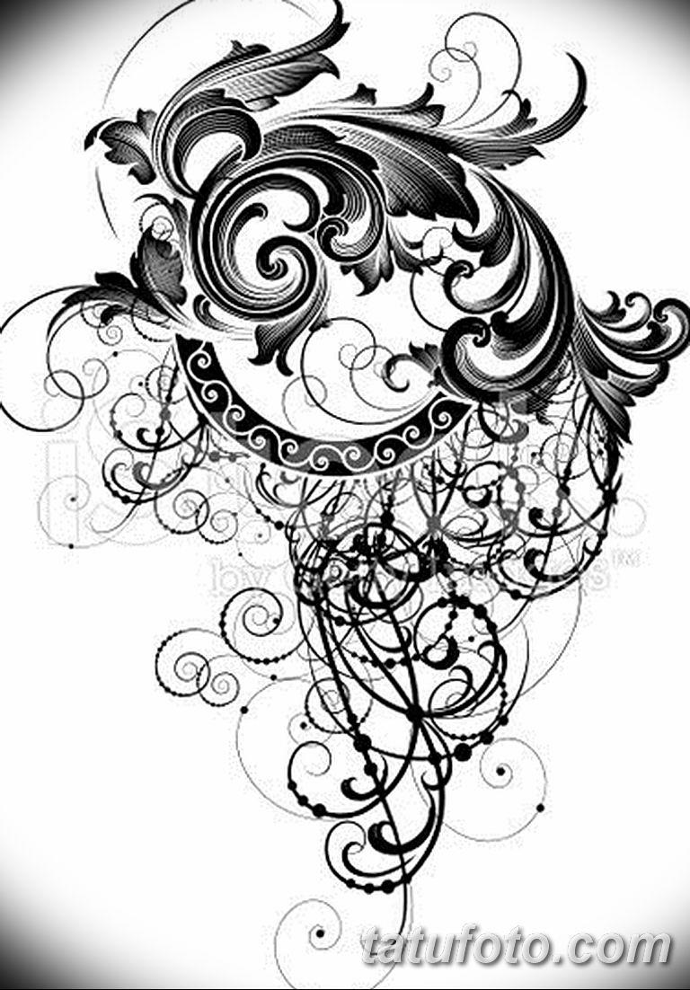 Фото орнамент тату эскизы 10.07.2019 №006 - ornament tattoo sketches - tatufoto.com