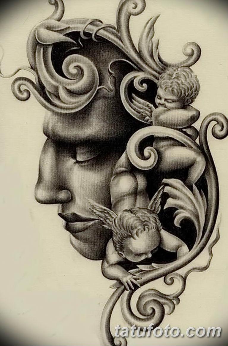 Фото орнамент тату эскизы 10.07.2019 №009 - ornament tattoo sketches - tatufoto.com