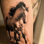 Фото пример тату с лошадью 24.07.2019 №028 - horse tattoo - tatufoto.com
