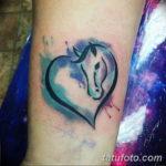 Фото пример тату с лошадью 24.07.2019 №039 - horse tattoo - tatufoto.com