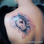 Фото пример тату с лошадью 24.07.2019 №041 - horse tattoo - tatufoto.com