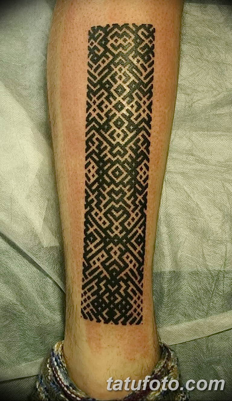 Фото славянский орнамент тату 10.07.2019 №008 - Slavic tattoo ornament - tatufoto.com
