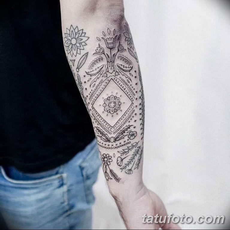 Фото славянский орнамент тату 10.07.2019 №013 - Slavic tattoo ornament - tatufoto.com