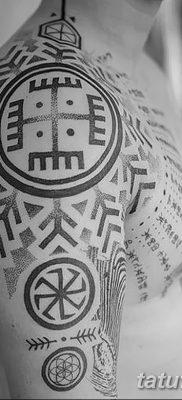 Фото славянский орнамент тату 10.07.2019 №021 – Slavic tattoo ornament – tatufoto.com