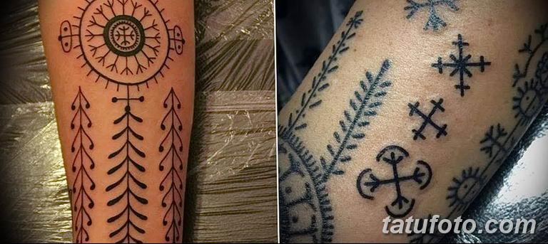 Фото славянский орнамент тату 10.07.2019 №025 - Slavic tattoo ornament - tatufoto.com