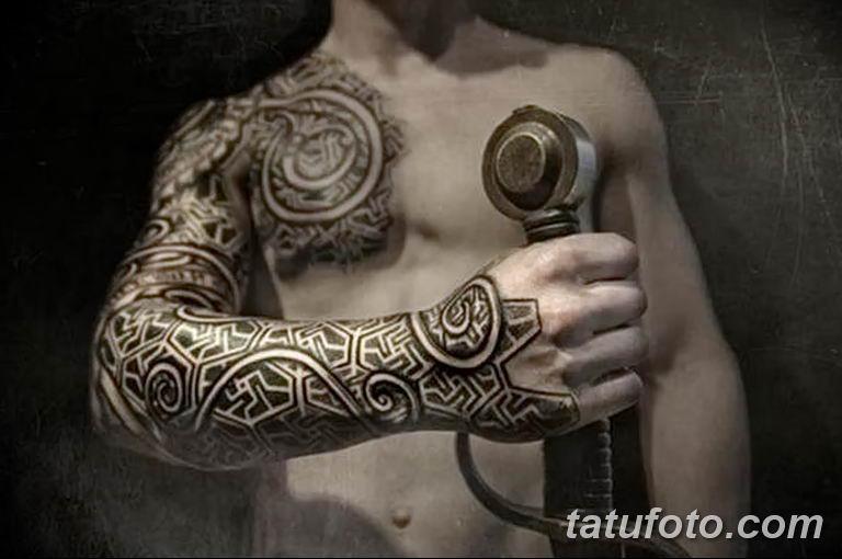 Фото славянский орнамент тату 10.07.2019 №026 - Slavic tattoo ornament - tatufoto.com