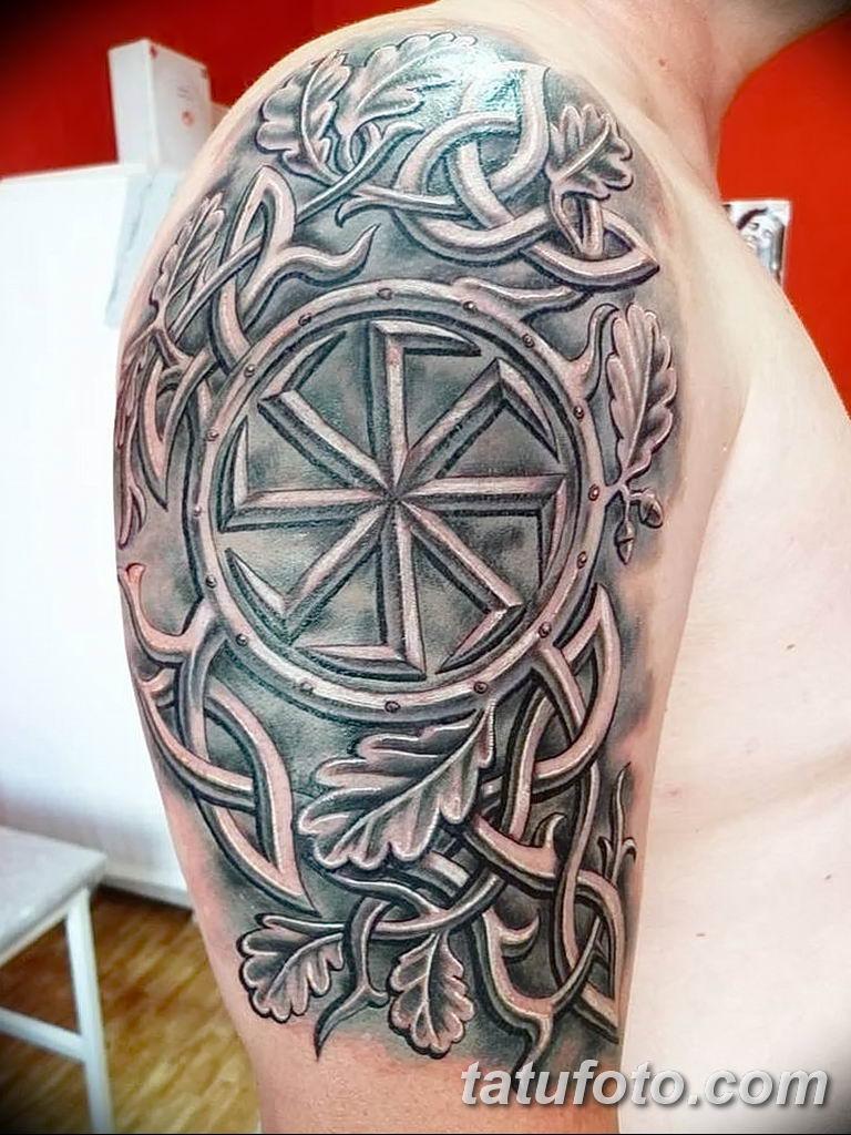 Фото славянский орнамент тату 10.07.2019 №027 - Slavic tattoo ornament - tatufoto.com