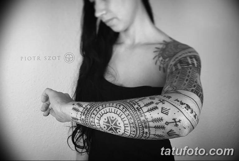 Фото славянский орнамент тату 10.07.2019 №029 - Slavic tattoo ornament - tatufoto.com