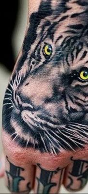 Фото тату белый тигр 28.07.2019 №001 – white tiger tattoo – tatufoto.com