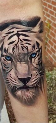 Фото тату белый тигр 28.07.2019 №010 – white tiger tattoo – tatufoto.com