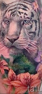 Фото тату белый тигр 28.07.2019 №057 – white tiger tattoo – tatufoto.com