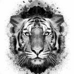 Фото тату белый тигр 28.07.2019 №073 - white tiger tattoo - tatufoto.com