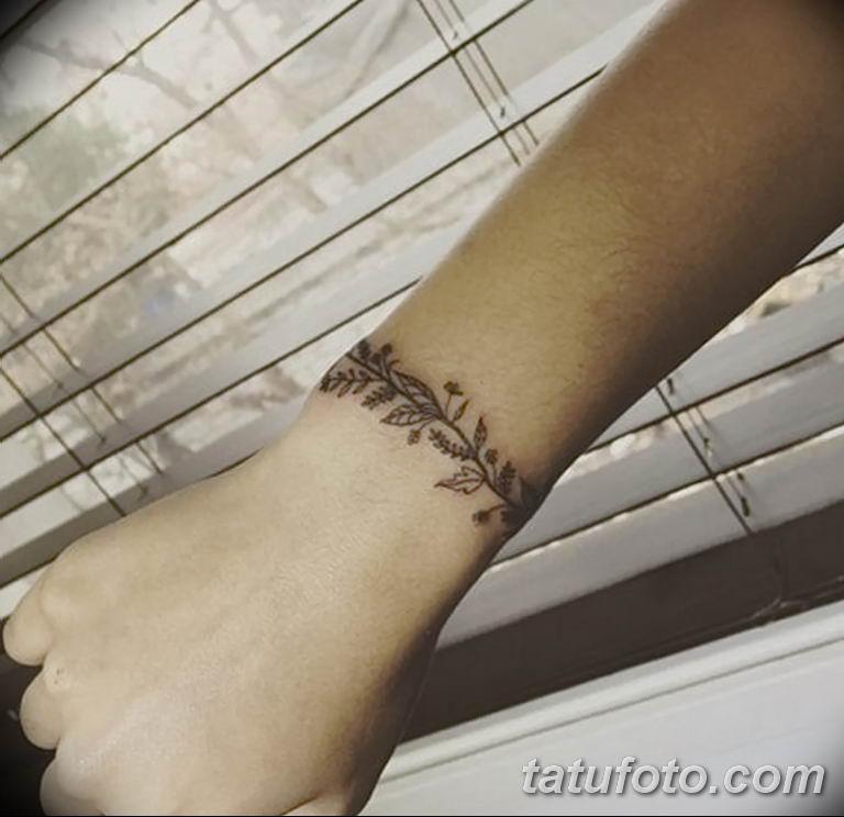 Фото тату браслет орнамент 10.07.2019 №006 - tattoo bracelet ornament - tatufoto.com
