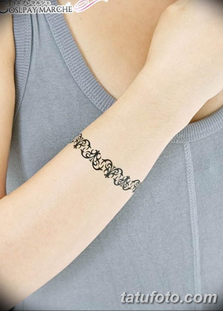Фото тату браслет орнамент 10.07.2019 №008 - tattoo bracelet ornament - tatufoto.com