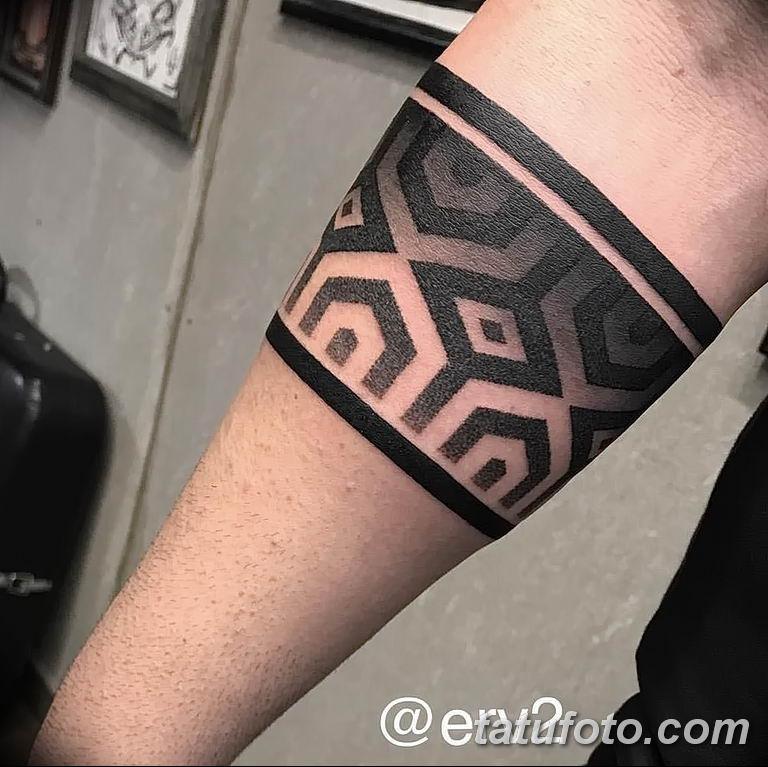 Фото тату браслет орнамент 10.07.2019 №021 - tattoo bracelet ornament - tatufoto.com