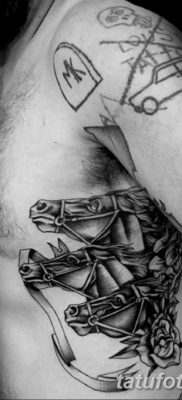 Фото тату лошадь для мужчин 24.07.2019 №024 – horse tattoo for men – tatufoto.com
