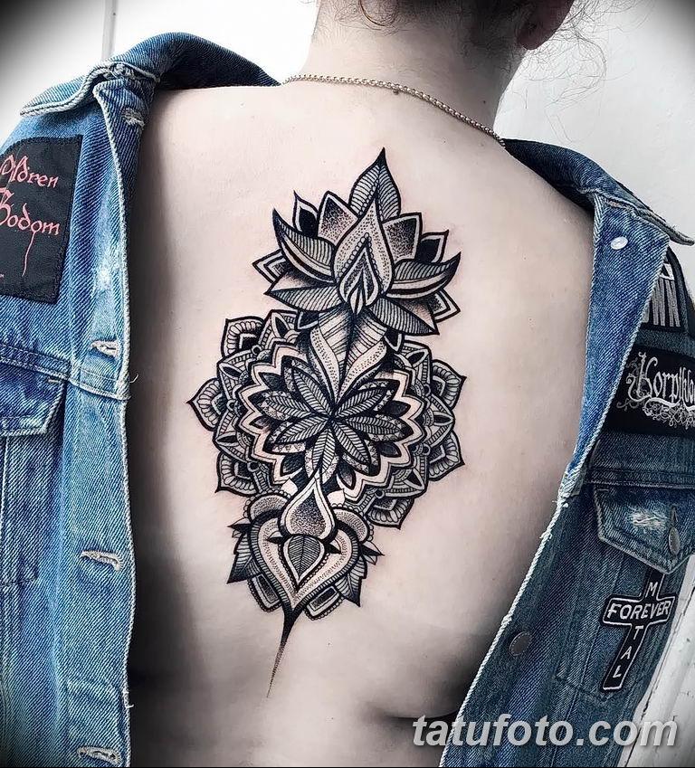 Фото тату орнаменты цветы 10.07.2019 №003 - tattoo ornaments flowers - tatufoto.com