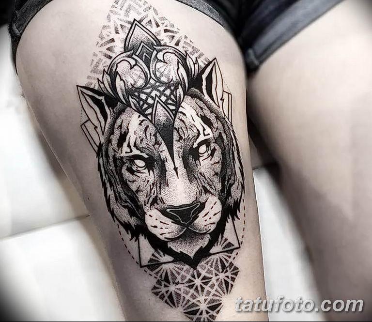 Фото тату орнамент лев 10.07.2019 №002 - tattoo ornament lion - tatufoto.com