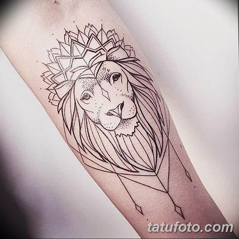 Фото тату орнамент лев 10.07.2019 №006 - tattoo ornament lion - tatufoto.com