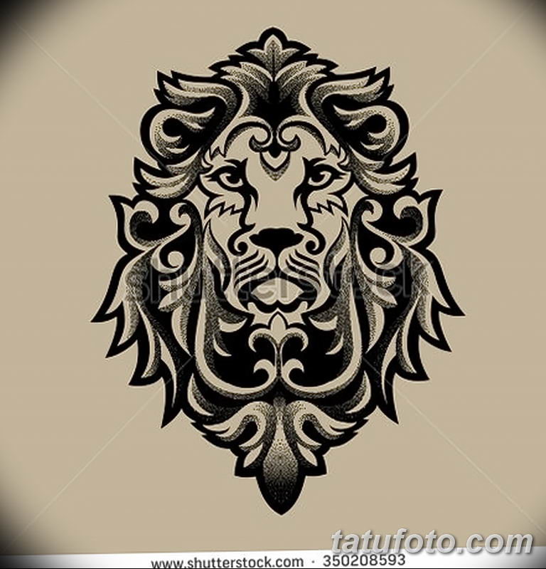 Фото тату орнамент лев 10.07.2019 №012 - tattoo ornament lion - tatufoto.com
