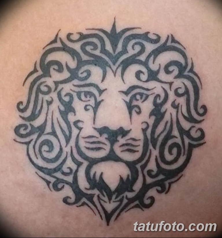 Фото тату орнамент лев 10.07.2019 №013 - tattoo ornament lion - tatufoto.com