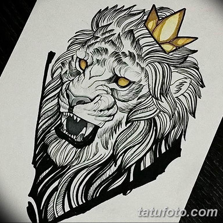 Фото тату орнамент лев 10.07.2019 №015 - tattoo ornament lion - tatufoto.com