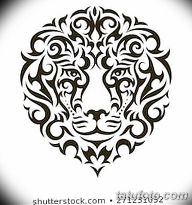 Фото тату орнамент лев 10.07.2019 №017 - tattoo ornament lion - tatufoto.com