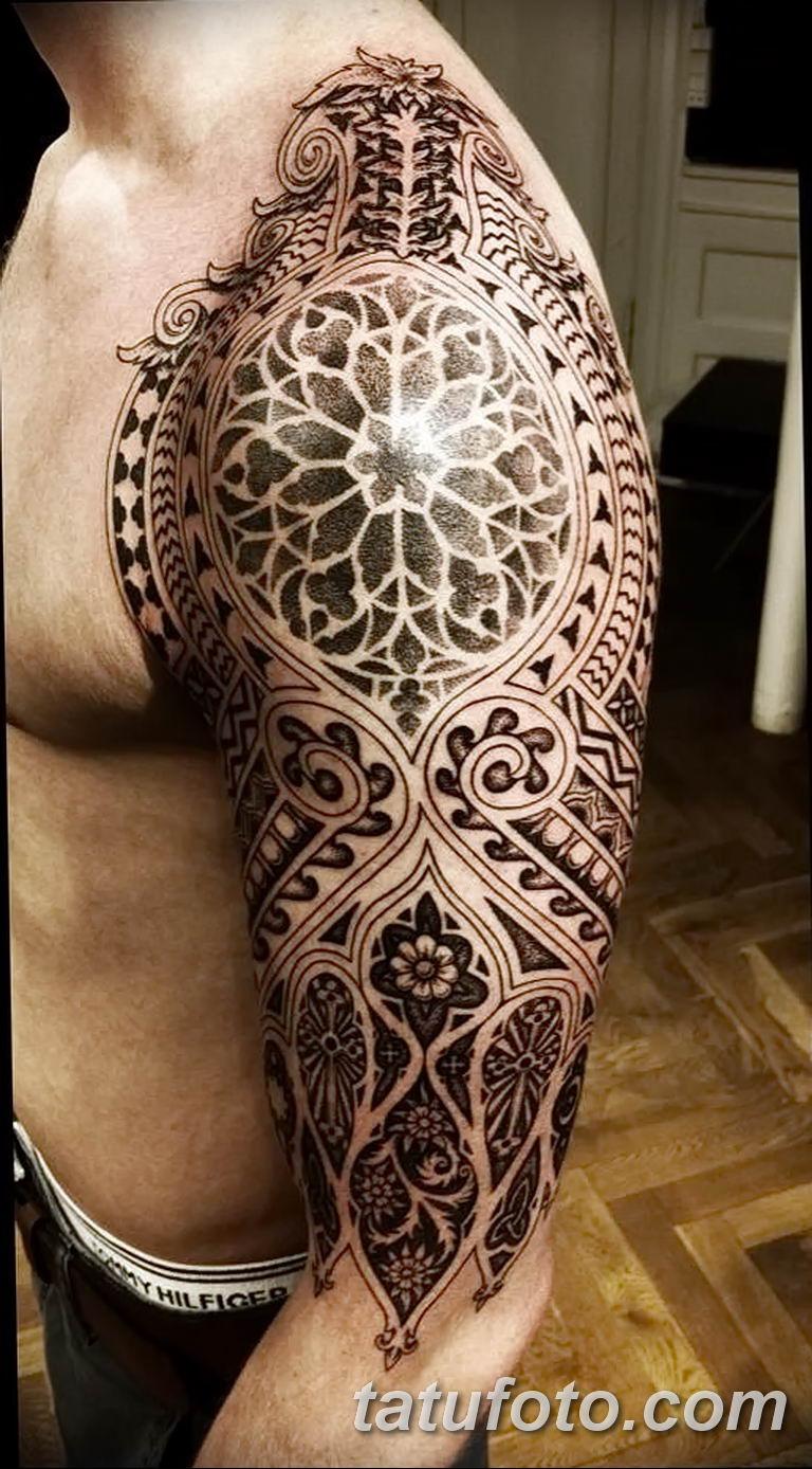 Фото тату орнамент мужские 10.07.2019 №002 - tattoo ornament for men - tatufoto.com