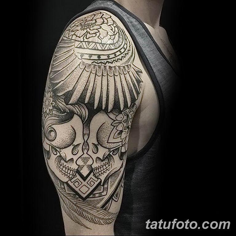 Фото тату орнамент мужские 10.07.2019 №008 - tattoo ornament for men - tatufoto.com