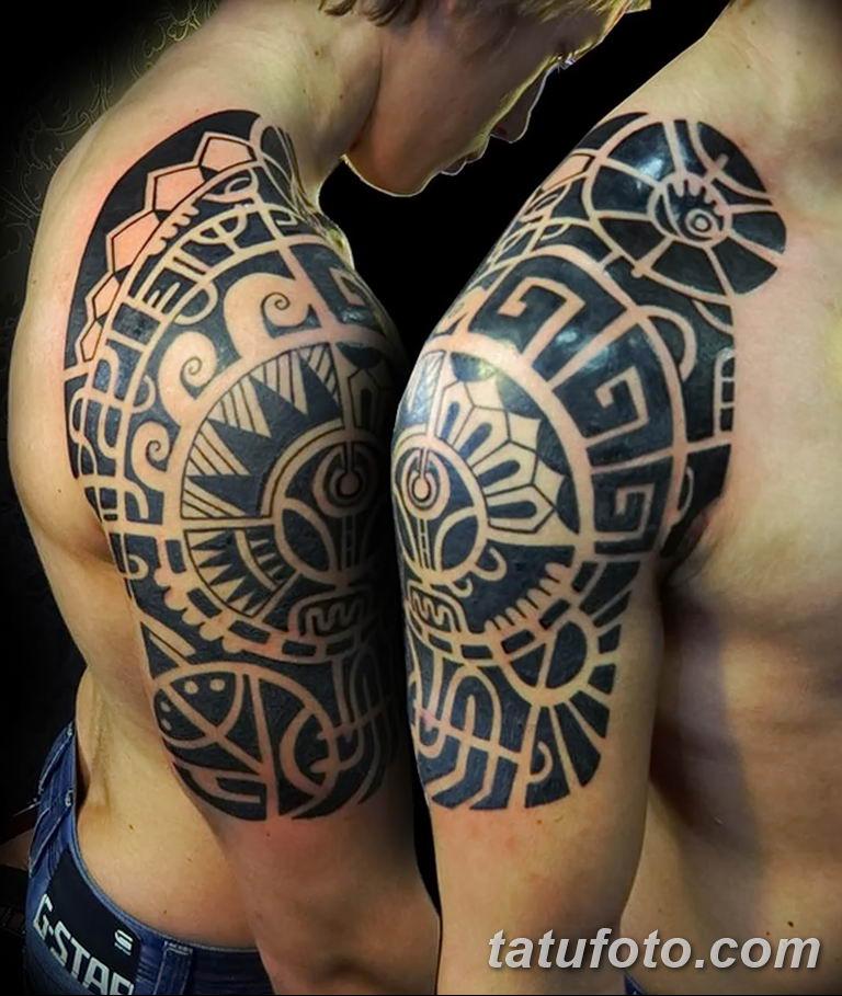 Фото тату орнамент мужские 10.07.2019 №028 - tattoo ornament for men - tatufoto.com