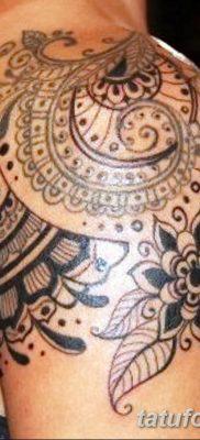 Фото тату орнамент на плече 10.07.2019 №007 – tattoo ornament on the shoul – tatufoto.com