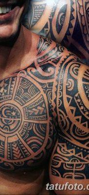 Фото тату орнамент на плече 10.07.2019 №012 – tattoo ornament on the shoul – tatufoto.com