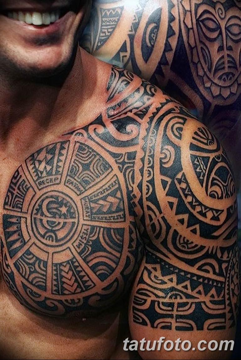 Фото тату орнамент на плече 10.07.2019 №012 - tattoo ornament on the shoul - tatufoto.com