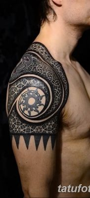 Фото тату орнамент на плече 10.07.2019 №014 – tattoo ornament on the shoul – tatufoto.com