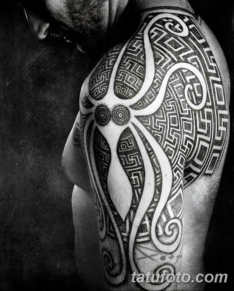 Фото тату орнамент на плече 10.07.2019 №021 - tattoo ornament on the shoul - tatufoto.com