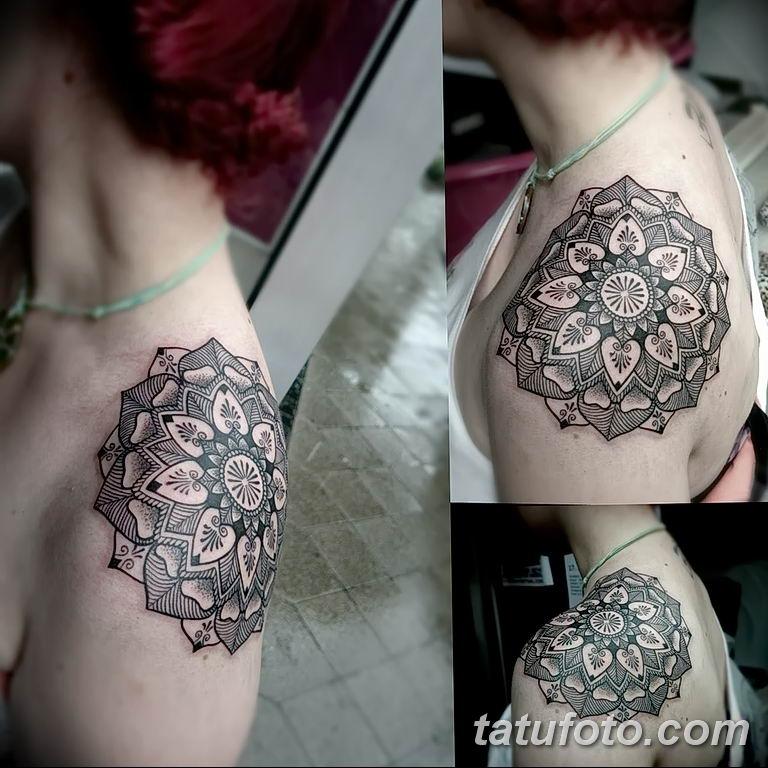 Фото тату орнамент на плече 10.07.2019 №022 - tattoo ornament on the shoul - tatufoto.com