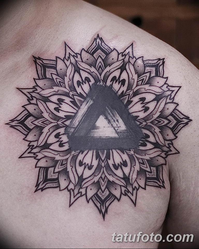 Фото тату орнамент на плече 10.07.2019 №025 - tattoo ornament on the shoul - tatufoto.com