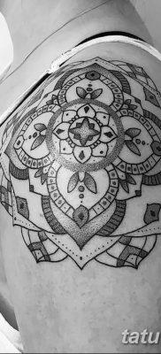 Фото тату орнамент на плече 10.07.2019 №027 – tattoo ornament on the shoul – tatufoto.com