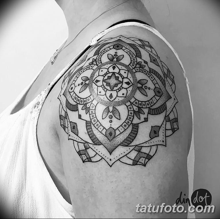 Фото тату орнамент на плече 10.07.2019 №027 - tattoo ornament on the shoul - tatufoto.com
